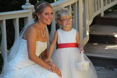Cassie and Shane - bride and flower girl #BlackHillsReceptions