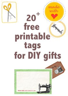 made-with-love tags: FREE printable tags for DIY gifts – for sewn, knitted, baked, crocheted, paper crafted gifts and more