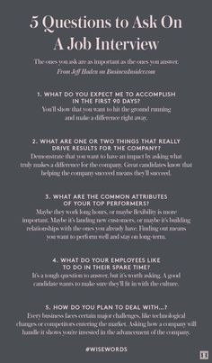 What to ask your interviewer