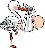Gráfico de punto de cruz gratis para descargar en pdf, imprimir y bordar cigüeña con bebé