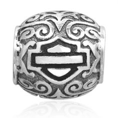 Harley-Davidson Ride Bead - Filigree Bar & Shield