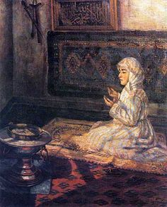'Praying Girl' by by Müfide Kadri (Turkish, 1889/90 - 1912)