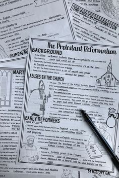 This engaging 69 slide PowerPoint presentation will help your students learn about the Protestant Reformation and the Catholic Counter Reformation. Perfect for your or grade classroom or homeschool students. Reformation Day, Protestant Reformation, Martin Luther Reformation, Ap European History, Renaissance And Reformation, Life Skills Activities, Social Studies Classroom, Teaching History, Reformation