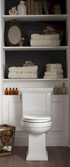 Cool small bathroom storage organization ideas (38)