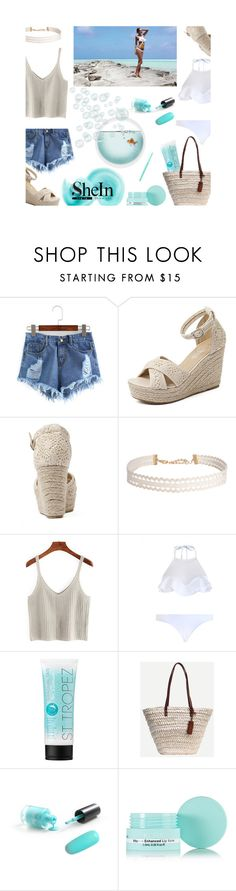 """""""SHEIN CONTEST"""" by maria-notte ❤ liked on Polyvore featuring Zimmermann, Humble Chic, St. Tropez, KORA Organics by Miranda Kerr and Stila"""