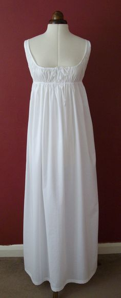 1797-1810 Regency Drawstring Petticoat in White by Historika