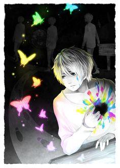 Amazing color scheme Anime guy