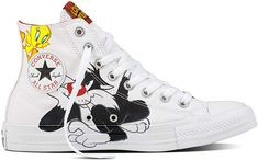 e9fdf7d33145e9 Converse Chuck Taylor All Star High Looney Tunes Rivalry Collection White  Black Tweety Yellow 158886C Limited