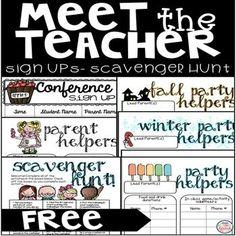 Do you host a Meet the Teacher Night or Open House at your school? Trying to meet and greet families, remind them to fill out important forms, and tell kiddos where to put supplies? Let this Scavenger Hunt do it for you!