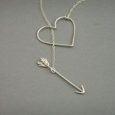 Heart and Arrow Necklace