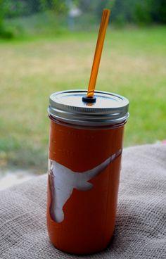 University of Texas 24 oz. Mason Jar Tumbler
