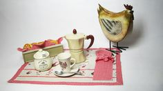 Rustic country placemat set / Breakfast by RevesCreazioni on Etsy