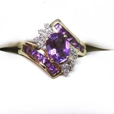 Another fab new arrival! This 9ct Gold Amethyst & Diamond Cluster Ring is listed for sale in our Etsy shop now! You can find more beautiful items on our Etsy store https://www.etsy.com/uk/shop/TheJewelleryBoxGB