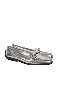 #Gucci silver Loafer Size: 38