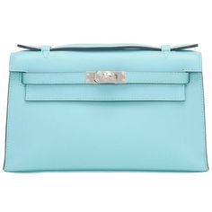 Vintage and Designer Clutches - For Sale at Hermes Purse, Hermes Shoes, Hermes Kelly Bag, Hermes Bags, Luxury Handbags, Fashion Handbags, Fashion Bags, Blue Purse, Blue Shoes