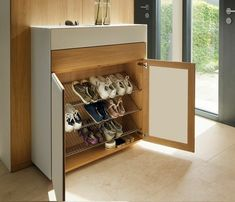 Interesting Hallway Shoe Storage Cabinet with Hallway Shoe Cabinet Chosen Wharfside Designed Shoe Cabinet Design, Shoe Storage Design, Hallway Shoe Storage, Shoe Storage Solutions, Shoe Storage Cabinet, Rack Design, Storage Ideas, Shoe Storage Modern, Storage Rack