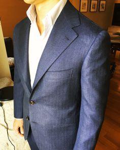 Blue Gary Jacket  http://www.sartoriacorcos.com  https://instagram.com/sartoria.corcos/