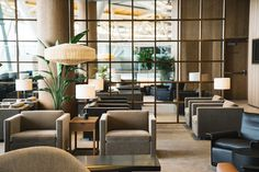 Kilo TL Table Lamp   Cathay Pacific VIP Lounge, Vancouver, Canada   Studio Ilse   Cathay Pacific has unveiled a new lounge in Vancouver International Airport from 4 May, 2016. The new lounge adopts the airline's contemporary and elegant design template, which has already been rolled out in Cathay Pacific lounges in Hong Kong, Manila, Bangkok, Taipei and Haneda Airport.