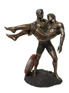Veronese Bronze Figurine GAY MAN Life Saver Statue