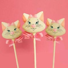 Marie cake pops: Aristocats Birthday Party