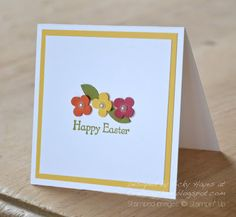 """Stamps: Teeny Tiny Wishes Ink: Old Olive Card stock: Whisper White, Daffodil Delight Punches: Itty Bitty punch pack, 2 step bird punch, 2 1/2"""" circle punch Other: Treat cups, Daffodil Delight stitched grosgrain ribbon, Basic Pearls, stamp-a-majig"""