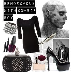 Rendezvous with zombie boy...I'll take the clothes, not so sure about zombie boy