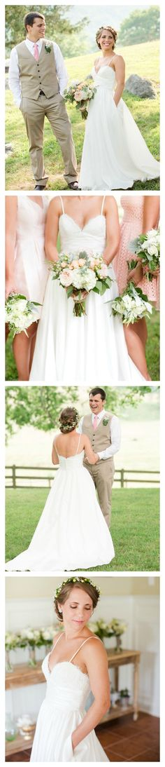 Custom made wedding dress with hidden pockets! $898