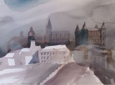 Toni Onley - here and here Born in Douglas, Isle of Man, England, the son of James and Florence (Lord) Onley. Late 20th Century, Canadian Artists, Cityscapes, Artist At Work, Contemporary Artists, Watercolors, Boats, Artsy, Painting
