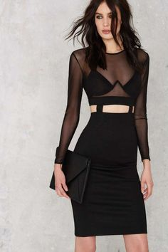 Oh My Love Heartbreaker Bodycon Dress - Best Sellers | Going Out | Midi + Maxi | Body-Con | LBD