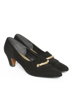 Black Gold Rope Loafers