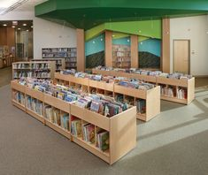 Trust Demco for school and library furniture, supplies, and equipment for high-impact learning spaces Public Library Design, Bookstore Design, School Library Design, Elementary School Library, Public Libraries, K12 School, School Libraries, School Classroom, Library Plan