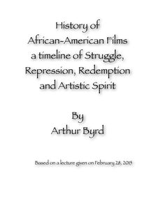 Great new e-book by my friend Arthur Byrd, complete with video clips. He is passionate and knowleedgable about his subject! African, History, Film, Books, People, Reading, Livros, Movies, Film Stock