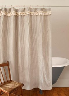 A wonderful addition to your bathroom awaits with this Downton Village Shower Curtain by Heritage Lace! #downtonabbey #decor #bath