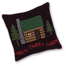 Western Lodge Home Sweet Cabin Throw Pillow