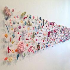 kleidersachen — Helle Jorgensen, The Entropy Collection Crochet Art, Textile Artists, Soft Sculpture, Art Plastique, Oeuvre D'art, Installation Art, Art Inspo, Art Lessons, Fiber Art
