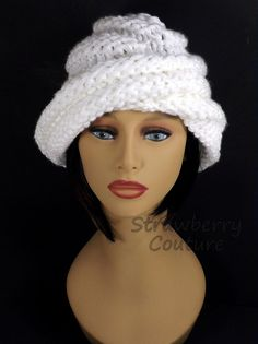 Oversized Knitting Boho Beanie Hat Boho Hat Womens Knit Hat Womens Hat Trendy White Hat Knit Hat Women OMBRETTA Knitting Beanie Hat by strawberrycouture by on Motifs Beanie, Knit Beanie Pattern, Knit Beanie Hat, Hats For Cancer Patients, Knitted Hats, Crochet Hats, Boho Hat, Hat Hairstyles, Hats For Women