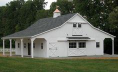 36x40 Modular horse barn. Includes: full loft, 2 - 8' overhangs, 3 ...