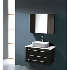 @Overstock - Single-sink bath vanity showcases a fresh design with modern clean lines  Stunning vanity will be the centerpiece of your bathroom for years to come  Faucets are not included  http://www.overstock.com/Home-Garden/Black-Single-sink-32-inch-Bathroom-Vanity-Set/4087379/product.html?CID=214117 $889.99
