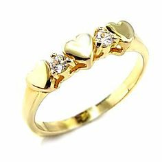 Women's Young Line Clear Cubic Zirconia Gold Tone Ring, . $12.60