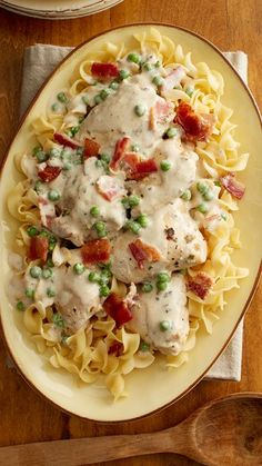 Slow-Cooker Smothered Chicken: You can never go wrong with smothered chicken, but our simplified recipe delivers big flavor with the help of a secret weapon—herb cream cheese. Oh, and bacon. This saucy dish comes together in five simple ingredients and is great paired with pasta or potatoes.