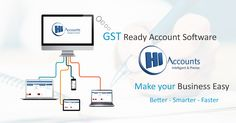 GST Accounting Software Easy to Access and Easy to Use It Supports both Online and Offline Application with Device Friendly Options. Accounting Software, Business, How To Make, Store, Business Illustration