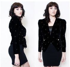 Adorned Velvet Pearls Jacket by rumors on Etsy, $28.00