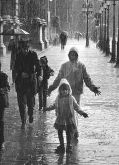 the family that walks in the rain together...stay's together...