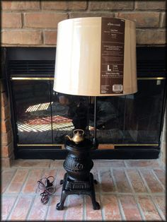 Pot Belly Cast Iron Table Lamp Country Cabin Lamp. $99. Finished And Ready  To