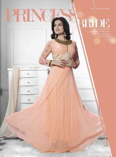 Impressive Peach Amisha Patel Floral Salwar Suit Buy Online