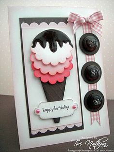 Ice Cream Card: use punch flower