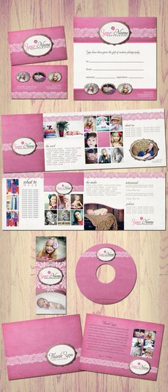 Boutique Marketing Package  Pink Lace  by KayleeBugDesign on Etsy, $50.00
