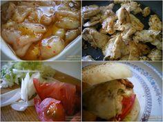 Shawarma o döner kebab (Carne adobada y guarnición)