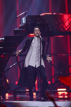 Melovin performs at Eurovision 2018 - 2nd Semifinal in Lisbon, Portugal 180510 #Melovin #Eurovision