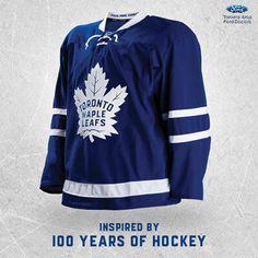 Toronto Maple Leafs home jersey from Nhl Hockey Teams, Hockey Logos, Sports Teams, Ice Hockey, Team Uniforms, Toronto Maple Leafs, Sport Outfits, Naruto, Blue And White